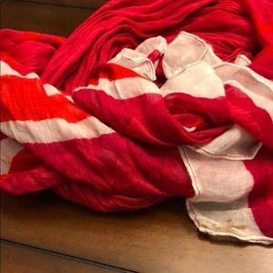 Pink orange white scarf very long
